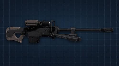 Halo 4 Sniper senapan