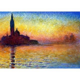 handmade oil painting san giorgio maggiore at dusk by. Black Bedroom Furniture Sets. Home Design Ideas