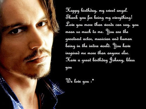 Johnny Depp wallpaper with a portrait called Happy birthday Johnny