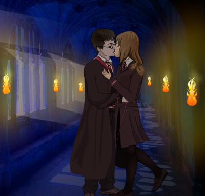 Harry Kisses Hermione