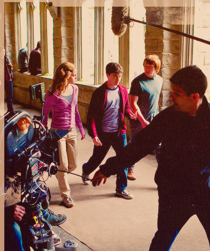 Harry Potter & The Half-Blood Prince - On the set