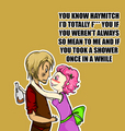 Haymitch Abernathy & Effie Trinket