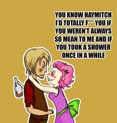 Haymitch Abernathy & Effie Trinket