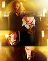 Hermione, Harry, Ron and Draco