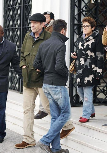 Hugh Laurie and Jo Green visiting Buenos Aires 06.06.2012