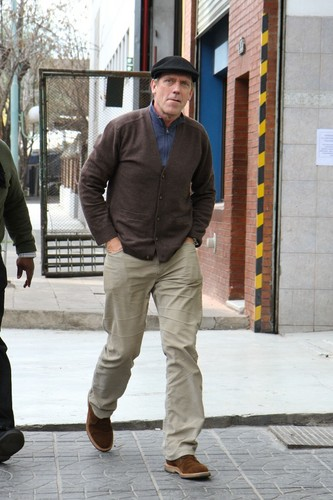 Hugh Laurie leaving El Obrero Restaurante 08.06.2012