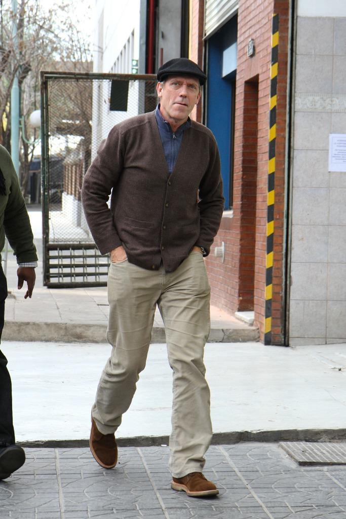 Hugh Laurie leaving El Obrero Restaurante 08.06.2012