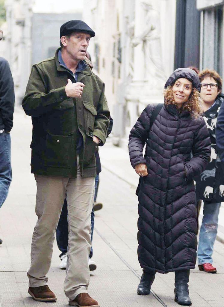 Hugh Laurie and Jo Green visiting Buenos Aires with the guia.06.06.2012