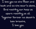 I amor you...