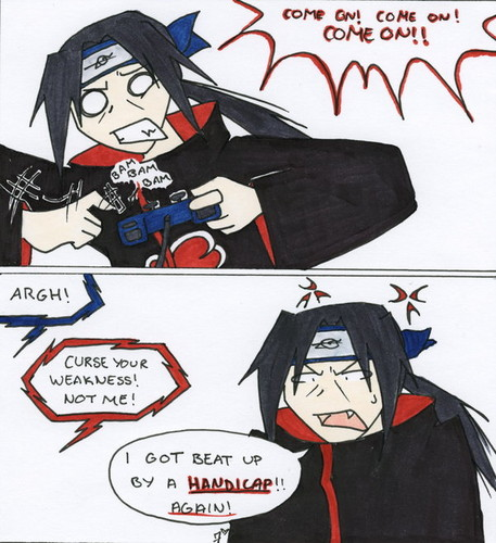 Itachi Playing a video game!?