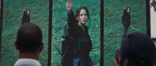 Jennifer as The Hunger Games' Katniss Everdeen
