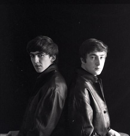 John and George in Hamburg (Stuart's painting room)