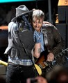 Johnny Depp with The Black Keys at the MTV Movie Awards 2012 - the-black-keys photo