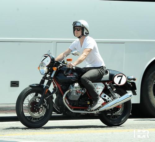 Josh riding his bike in LA