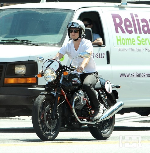 Josh riding his bike in LA