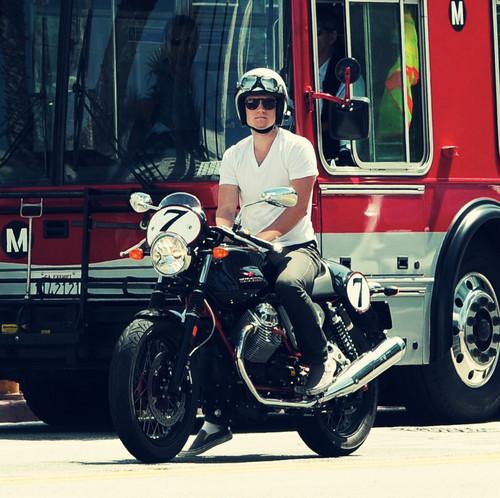 Josh riding his bike