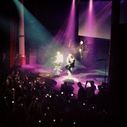 Justin performing at the NRJ show