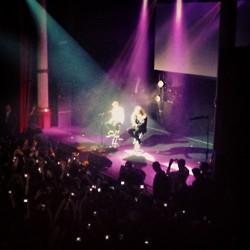 Justin performing at the NRJ montrer