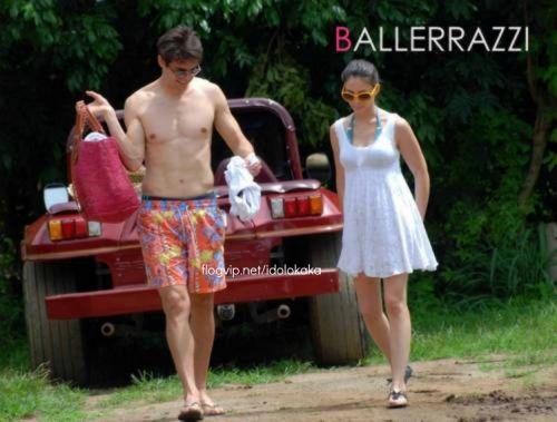 Kaka and his wife Hollyday in Brazil (Fernando de Noronha)