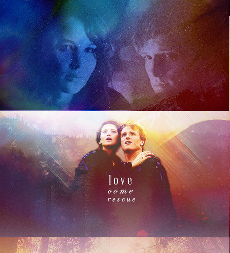 Peeta Mellark Hintergrund entitled Katniss and Peeta