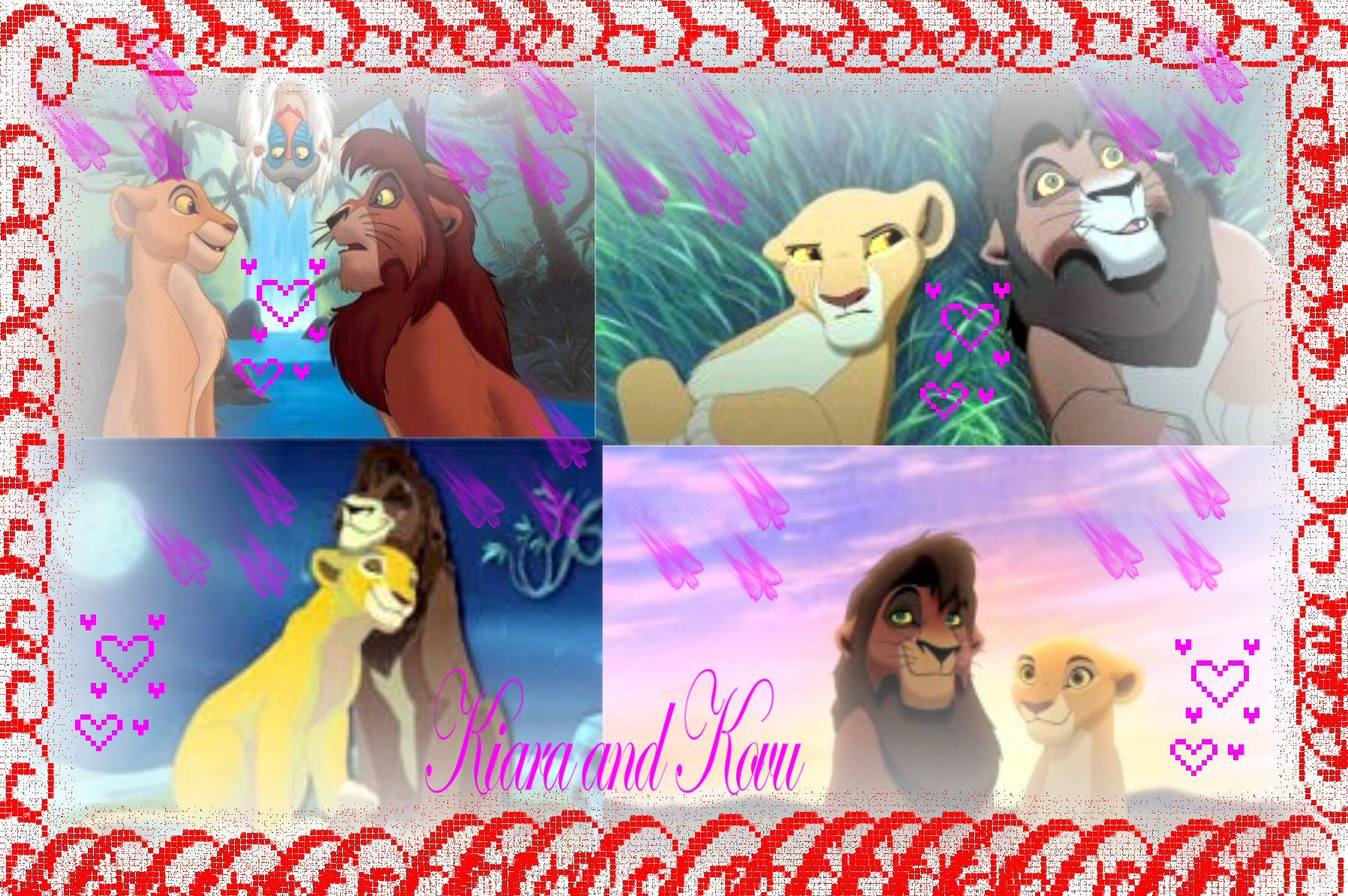 Lion king couples kiara-and-kovu