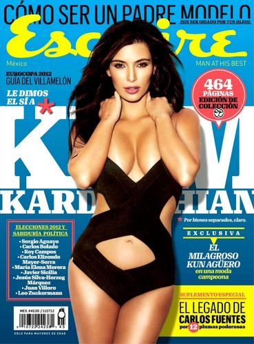 Kim Kardashian wallpaper possibly containing a maillot and anime titled Kim Kardashian Photoshoot for Esquire Mexico Magazine