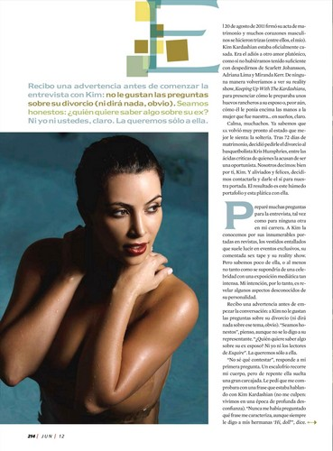 Kim Kardashian wallpaper possibly containing anime titled Kim Kardashian Photoshoot for Esquire Mexico Magazine