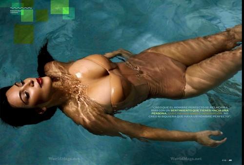 Kim Kardashian wallpaper containing skin titled Kim Kardashian Photoshoot for Esquire Mexico Magazine