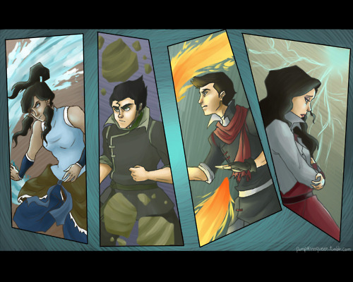 Avatar: The Legend of Korra wallpaper possibly containing anime called Korra Krew