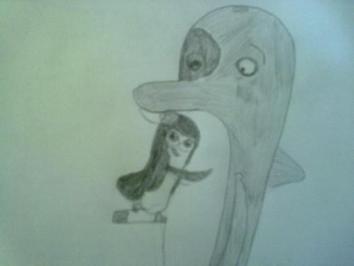 Kowalskina embrace Dr.Blowhole
