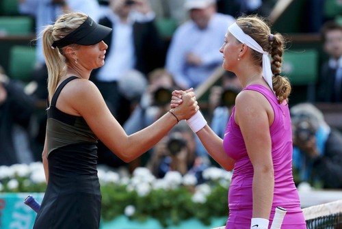 Kvitova and Sharapova 2012 French Open