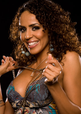 WWE LAYLA wallpaper possibly containing a portrait titled Layla Photoshoot Flashback