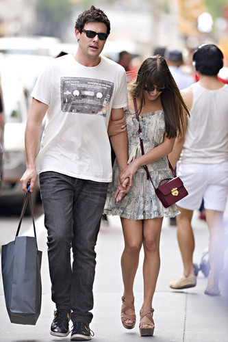 Lea Michele and Cory Monteith Hold Hands While Shopping in New York City on May 16, 2012