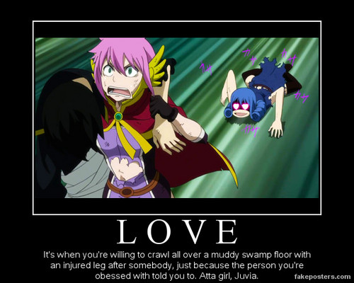 Love- Juvia Demotivational Poster