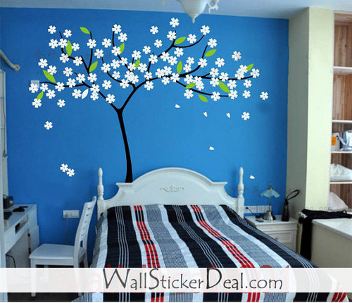 Lovely Blossom baum With Blumen Wand Stickers