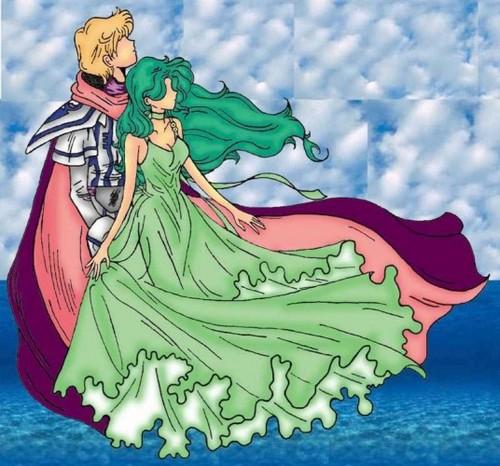 Sailor Uranus and Sailor Neptune karatasi la kupamba ukuta probably containing anime entitled MIchiru and Haruka