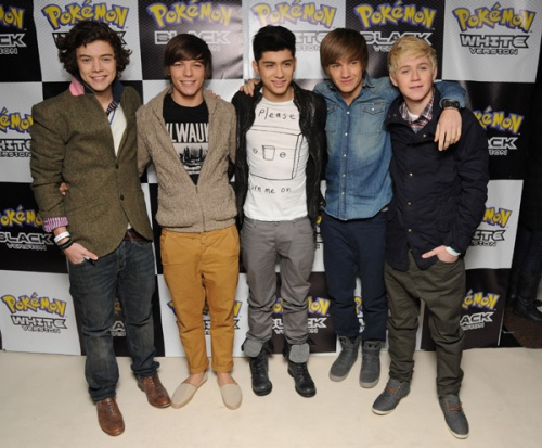 One Direction wallpaper titled March 3rd 2011 - Launch Of Pokemon Black And White