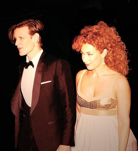 Matt Smith پیپر وال entitled Matt & Alex Kingston