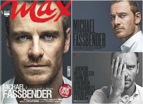 Michael Fassbender wallpaper possibly with a business suit and anime entitled Max Italia Magazine March 2012 magazine scans