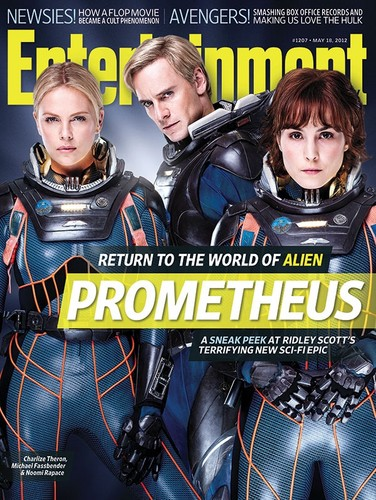 Michael Fassbender wallpaper with anime entitled Michael Fassbender in Prometheus EW Magazine Cover 2012