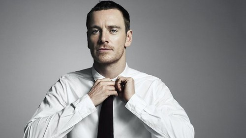 Michael Fassbender wallpaper probably containing a windsor tie, a four in hand, and a dress camicia entitled Michael Fassbender