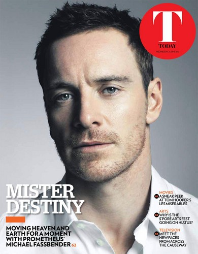 Michael Fassbender on the cover of Today newspaper - June 6