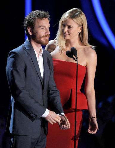 Michael Fassbender with Charlize Theron at the mtv Awards 2012