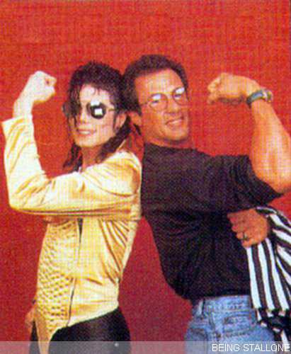 Michael with Sylvester