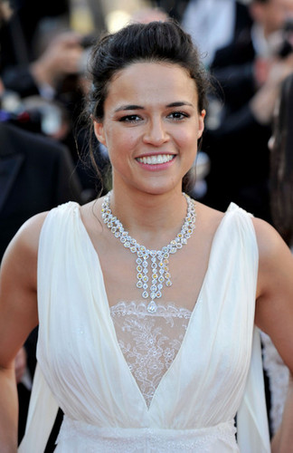 Michelle Rodriguez hình nền containing a bridesmaid titled Michelle - Killing Them Softly Premiere - 65th Annual Cannes Film Festival, May 22, 2012