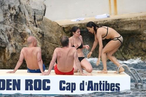 Michelle - in a Tan Bikini, in Antibes, France - May 23, 2012