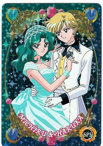 Sailor Uranus and Sailor Neptune karatasi la kupamba ukuta containing anime called Michiru and Haruka