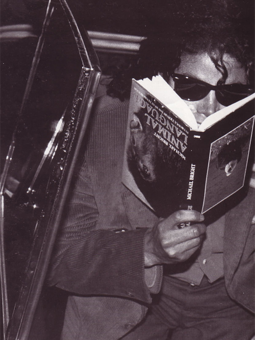 Mikey baby . . . te do know the libri upside down, don't you? O.o