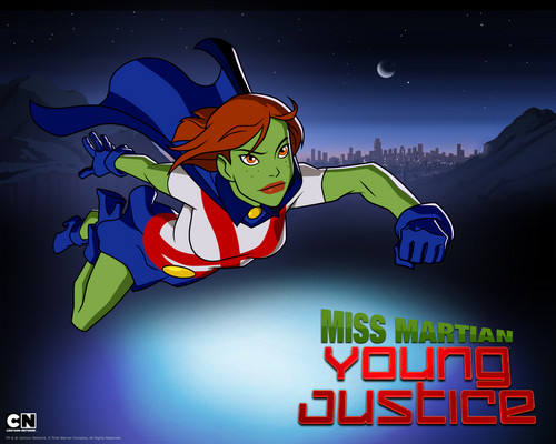 Teen Titans vs. Young Justice fond d'écran with animé called MissMartian