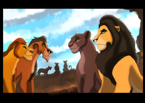 Mufasa and Taka's first hunt